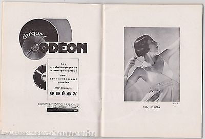 SAMSON ET DALILA PARIS OPERA ANTIQUE FRENCH THEATRE SHOW ART DECO PROGRAM 1930 - K-townConsignments