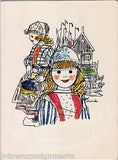 KLM ROYAL DUTCH AIRLINE VINTAGE MARKEN DRESS GIRL GRAPHIC ART ADVERTISING MENU - K-townConsignments