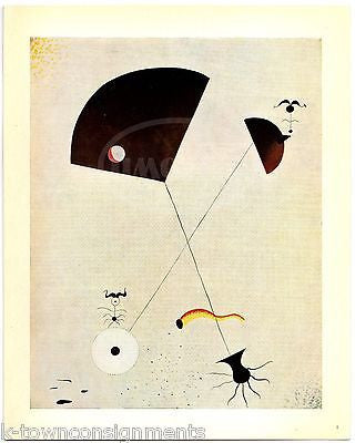 JOAN MIRO MATERNITY VINTAGE SURREALIST ARTIST GRAPHIC ART PRINT - K-townConsignments