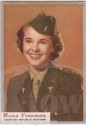 MONA FREEMAN DOUBLE INDEMNITY MOVIE ACTRESS WWII WAC UNIFORM WHO-Z-AT STAR CARD - K-townConsignments