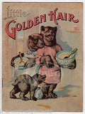 LITTLE GOLDEN HAIR GOLDILOCKS & THE THREE BEARS ANTIQUE ILLUSTRATED STORY BOOK - K-townConsignments