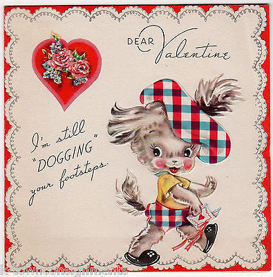 Spunky Little Scottie Dog Too Snooty Vintage Graphic Art Valentine's Day Card - K-townConsignments