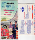 BRANIFF AIRWAYS VINTAGE GRAPHIC ADVERTISING INTERNATIONAL FLIGHT PACKET & FLYERS - K-townConsignments