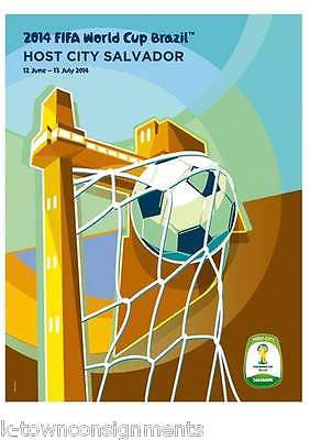 SALVADOR CITY BRAZIL 2014 WORLD CUP SOCCER GRAPHIC ART POSTER WALL DECOR - K-townConsignments