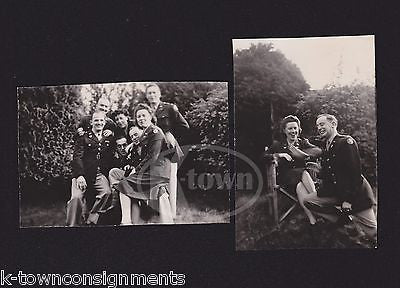 WAAC WOMAN MILITARY MEN PHOTO BOMB FUN VINTAGE IDed WWII SNAPSHOT PHOTOS - K-townConsignments
