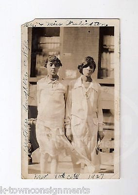 AFRICAN AMERICAN MOTHER & DAUGHTER 1920s NEW YORK CITY VINTAGE SNAPSHOT PHOTO - K-townConsignments