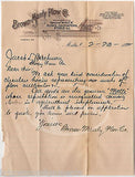 BROWN MANLY PLOW COMPANY MALTA OHIO ANTIQUE FARM ADVERTISING LETTERHEAD 1892 - K-townConsignments