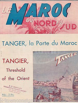 LE MAROC DU NORD AU SUD TANGER ANTIQUE FRENCH TRAVEL ADVERTISING BOOKLET 1937 - K-townConsignments