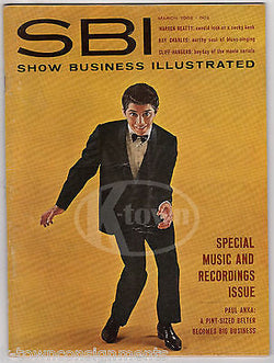 PAUL ANKA RAY CHARLES WARREN BEATTY VINTAGE SMALL BUSINESS ILLUSTRATED MAGAZINE - K-townConsignments