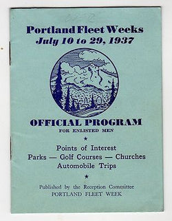 PORTLAND FLEET WEEK NAVY MILITARY PROGRAM ANTIQUE SOUVENIR TRAVEL BOOKLET 1937 - K-townConsignments