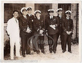 PAN AMERICAN AIRWAY PILOT NEVILLE CUMMINGS TRANSATLANTIC FLIGHT PRESS PHOTO 1937 - K-townConsignments