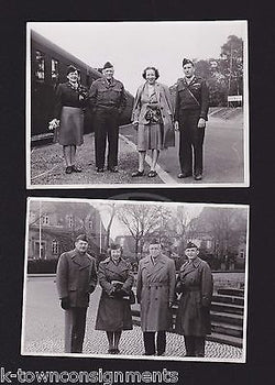 US ARMY OFFICERS & WAC MILITARY WOMEN IN UNIFORM VINTAGE WWII SNAPSHOT PHOTOS - K-townConsignments