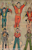SHAZAM! CAPTAIN MARVEL JR & MARY MARVEL VINTAGE 1970s COMIC BOOK INSERT POSTER - K-townConsignments