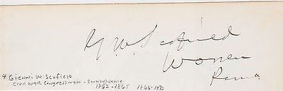 SIDNEY CLARKE CIVIL WAR KANSAS CONGRESSMAN ANTIQUE AUTOGRAPH SIGNATURE - K-townConsignments
