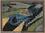 BATMAN & ROBIN DC COMIC BOOK SUPERHEROS VINTAGE BATMOBILE COMIC ART POSTER PRINT - K-townConsignments