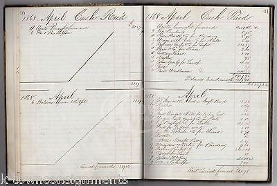 J. B. LEONARD CO BOSTON CIVIL WAR DEBT LEDGER GORDON McKAY REVENUE STAMP 1868 - K-townConsignments