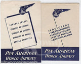 PAN AMERICAN AIRWAYS VINTAGE GRAPHIC ADVERTISING POSTCARD FLIGHT PACKET & FLYERS - K-townConsignments