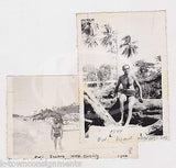 OWI ISLAND PHILIPPINES US SOLDIER BEACH BATHING SUIT ORIGINAL SNAPSHOT PHOTOS - K-townConsignments