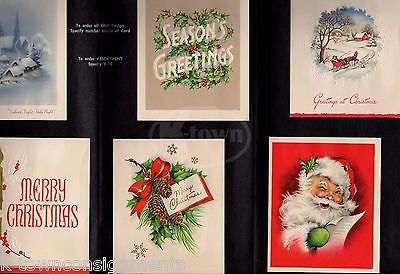 MERRY CHRISTMAS GREETINGS CARDS VINTAGE ADVERTISING SALESMAN SAMPLE DISPLAY X-10 - K-townConsignments