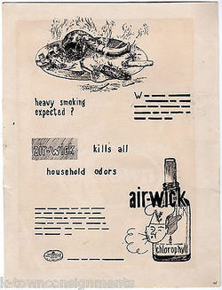 AIR WICK CHLOROPHYL COVERS HEACY SMOKING ODOR ANTIQUE VINTAGE ADVERTISING ART - K-townConsignments