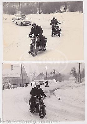 WINTERTOURENFAHRT 1963 AUSTRIAN MOTORCYCLE RACING ORIGINAL ARTUR FENZLAU PHOTOS - K-townConsignments