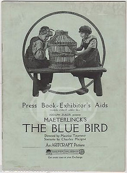 MAETERLINCK'S THE BLUE BIRD SILENT FILM ANTIQUE GRAPHIC ADVERTISING PRESS BOOK - K-townConsignments