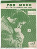 ELVIS PRESLEY TOO MUCH SONG & LYRICS VINTAGE RCA VICTOR SHEET MUSIC 1956 - K-townConsignments