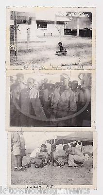 WWII JAPANESE POW PRISONERS LUZON PHILIPPINES ORIGINAL GI SNAPSHOT PHOTOS LOT - K-townConsignments