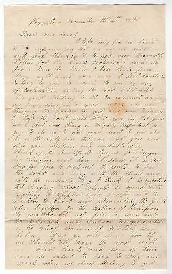 MENNONITE BISHOP JACON HILDEBRAND WAYNESBORO VA ANTIQUE AUTOGRAPH SIGNED LETTER - K-townConsignments