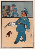 POLICEMAN DOG COPS & ROBBERS ANTIQUE ILLUSTRATION PRINT BY W.W. DENSLOW 1909 - K-townConsignments