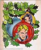 FLASH GORDON COMIC STRIP HERO VINTAGE GRAPHIC ART CHRISTMAS GREETINGS CARD - K-townConsignments