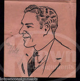 PENNSYLVANIA RAILROAD EMPLOYEE MR. HOLT ORIGINAL JACK BRYAN CARTOON INK SKETCH - K-townConsignments