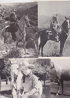 WESTERN COWBOY MOVIE ACTORS BUCK JONES COWGIRL & HORSES VINTAGE PROMO PHOTOS - K-townConsignments