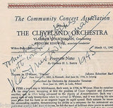 VLADIMIR GOLSCHMANN ORCHESTRA CONDUCTOR AUTOGRAPH SIGNED CLEVELAND PROGRAM 1945 - K-townConsignments