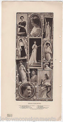 ANN SOUTHERN THEO CAREW MAY BUCKLEY EARLY ACTRESSES ANTIQUE GRAPHIC PRINT 1906 - K-townConsignments