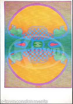 1 2 3 INFINITY ORIENTAL SYMMETRY VINTAGE PETER MAX GRAPHIC ART POSTER PRINT - K-townConsignments