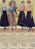 WOMENS FASHION DESIGN NEW YORK FINE WOOL SKIRT ANTIQUE GRAPHIC ADVERTISING PRINT - K-townConsignments