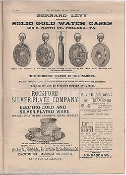 NATIONAL RETAIL JOURNAL PHILADELPHIA ANTIQUE GRAPHIC WATCHES ADVERTISING CATALOG - K-townConsignments