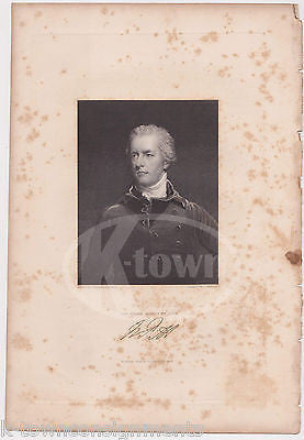 WILLIAM PITT ENGLISH PRIME MINISTER OF BRITAIN ANTIQUE GRAPHIC ENGRAVING PRINT - K-townConsignments