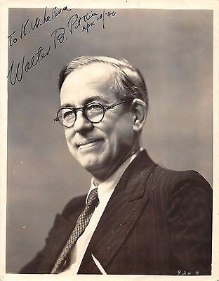 WALTER PITKIN COLUMBIA UNIVERSITY PROFESSOR JOURNALIST AUTOGRAPH SIGNED PHOTO - K-townConsignments