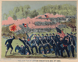BATTLE AT CEDAR MOUNTAIN 1862 VINTAGE CIVIL WAR SOLDIERS GRAPHIC POSTER PRINT - K-townConsignments