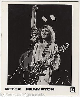 PETER FRAMPTON LIVE ON STAGE VINTAGE FRANK DRIGGS COLLECTION MUSIC PROMO PHOTO - K-townConsignments
