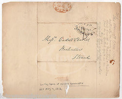EDWARD BANCROFT REVOLUTIONARY WAR SPY BEN FRANKLIN ANTIQUE STAMPED POSTAL COVER - K-townConsignments