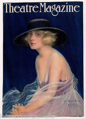 BLANCHE SWEET EARLY MOVIE ACTRESS ANTIQUE GRAPHIC ART MAGAZINE COVER PRINT 1919 - K-townConsignments