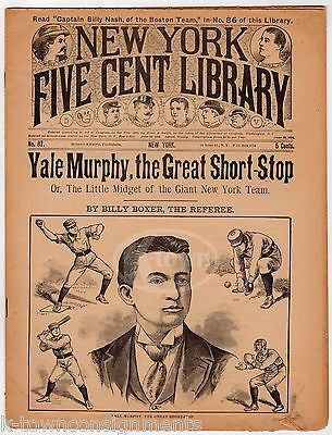 YALE MURPHY NY GIANTS BASEBALL PLAYER PAWNEE BILL THOMAS EDISON KIDS MAGAZINE (2 - K-townConsignments