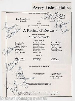 BARBARA COOK BONNIE FRANKLIN ANITA DARIAN AUTOGRAPH SIGNED THEATRE REVIEW PAGE - K-townConsignments