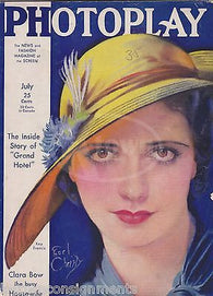 GRETA GARBO MOVIE ACTRESSES & BATHING SUITS ANTIQUE PHOTOPLAY MAGAZINE JULY 1932 - K-townConsignments