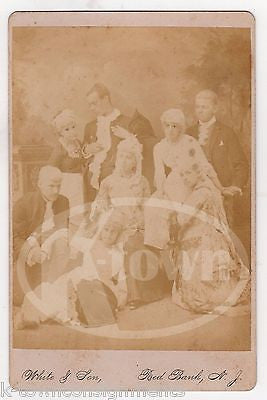 UNUSUALLY POSED ANTIQUE CABINET CARD PHOTO VICTORIAN DRESS & NOT FACING CAMERA - K-townConsignments