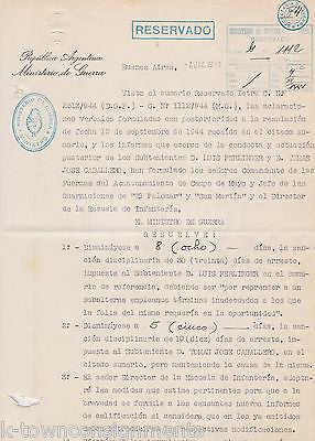 JUAN PERON ARGENTINA PRESIDENT MILITARY LEADER VINTAGE AUTOGRAPH SIGNED DOCUMENT - K-townConsignments