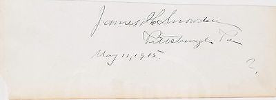 JAMES SNOWDEN EARLY PENNSYLVANIA POLITICS AUTOGRAPH SIGNATURE - K-townConsignments